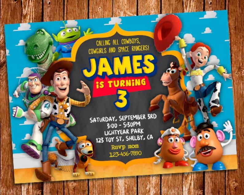 Invitacion De Toy Story Toy Story Para Imprimir Cumpleanos Etsy
