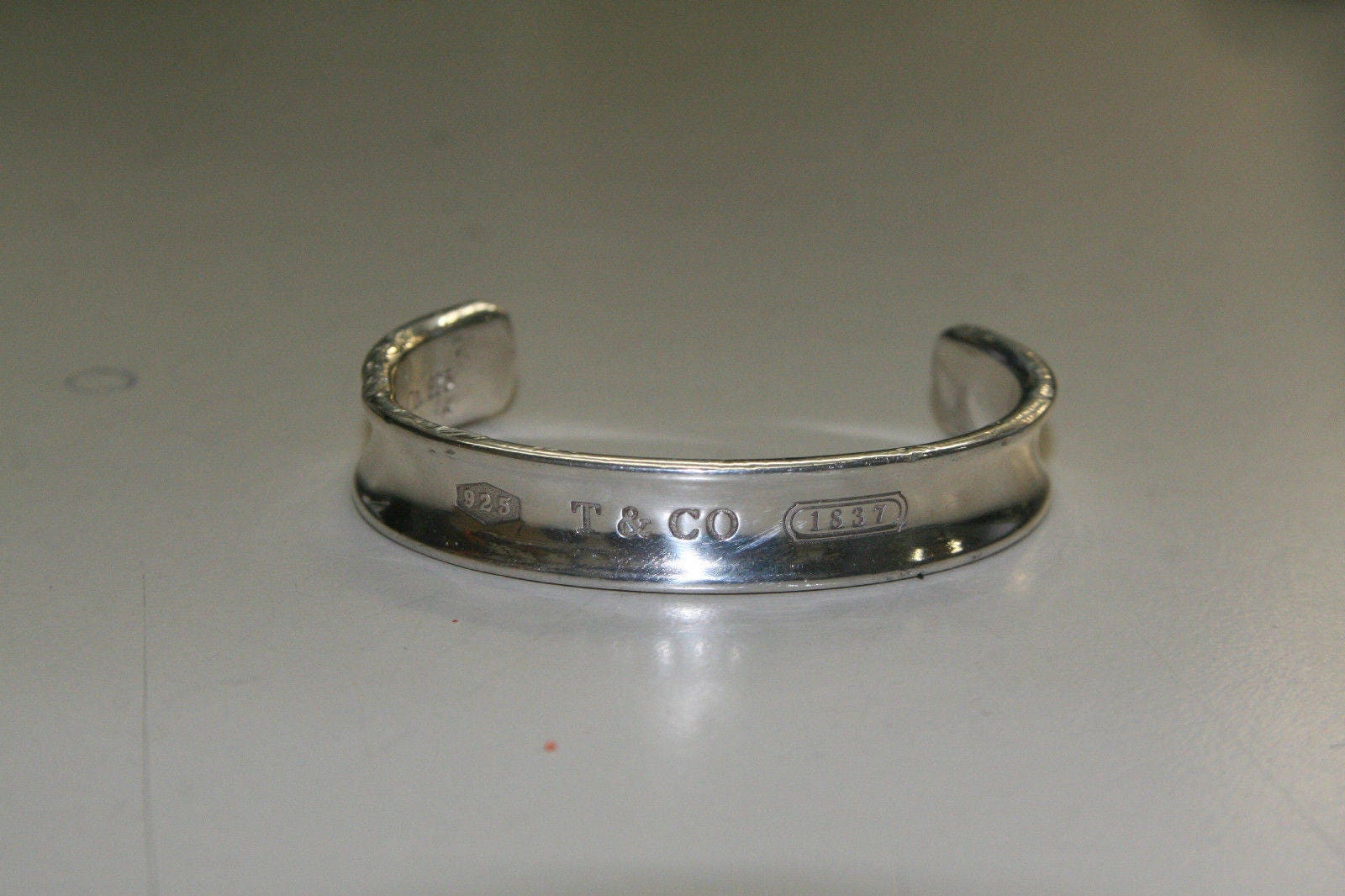 2c56c80b0 Tiffany & Co (T and CO) Sterling Silver 1837 Cuff Bangle Bracelet