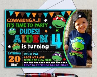 Ninja Turtles Invitation / Ninja Turtles Birthday / Ninja Turtles Invite / Ninja Turtles Party / Ninja Turtles Birthday Invitation