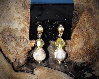 Job's Tears Earrings-Golden LIght