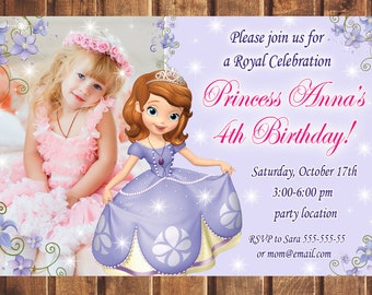 Sofia the first invitation etsy sale sofia the first birthday invitation sofia the 1st birthday invitation sophia the first birthday invitation sofia the 1st invite stopboris Image collections