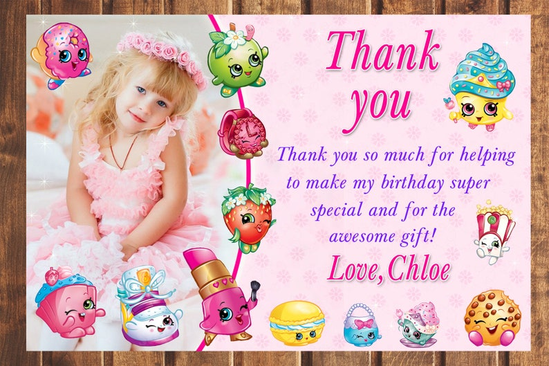 photo about Shopkins Birthday Card Printable identified as Shopkins thank by yourself card, Shopkins Birthday card, Shopkins, Shopkins Occasion, Shopkins electronic card, Shopkins Printable-electronic record