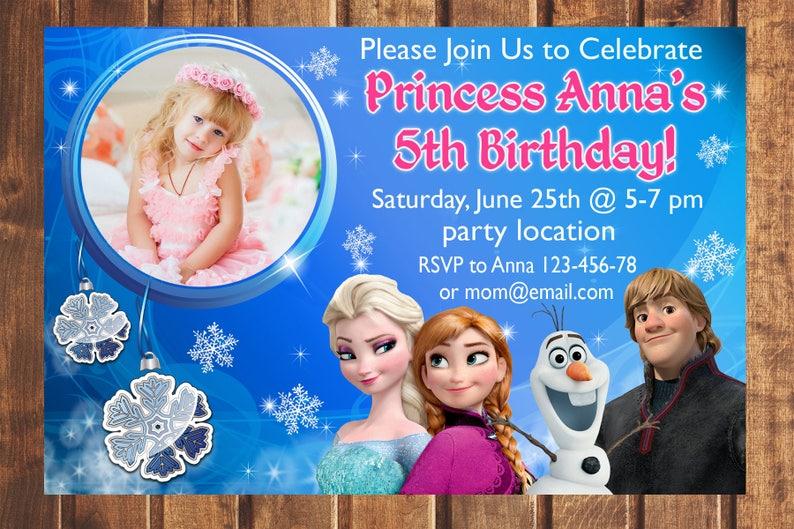 Sale Frozen Invitation Frozen Birthday Invitation Elsa Etsy