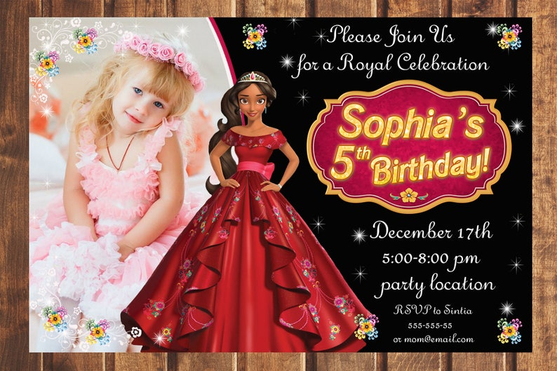 Elena Of Avalor Invitation Princess Birthday Disney Party