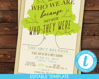 photograph about Free Printable Family Reunion Invitations identify Relatives reunion invites Etsy