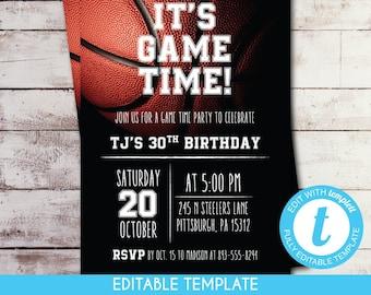 game day invitation etsy