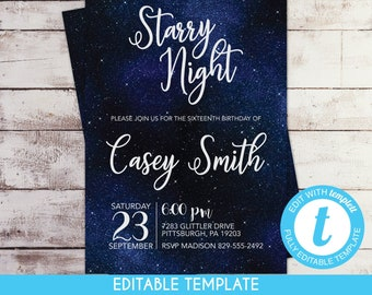 celestial invitation etsy