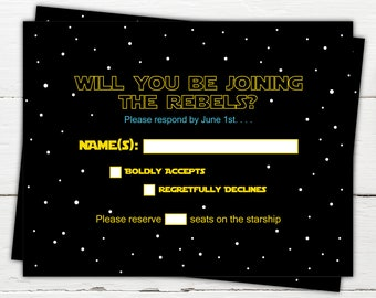 Star Wars Wedding Invitations Etsy