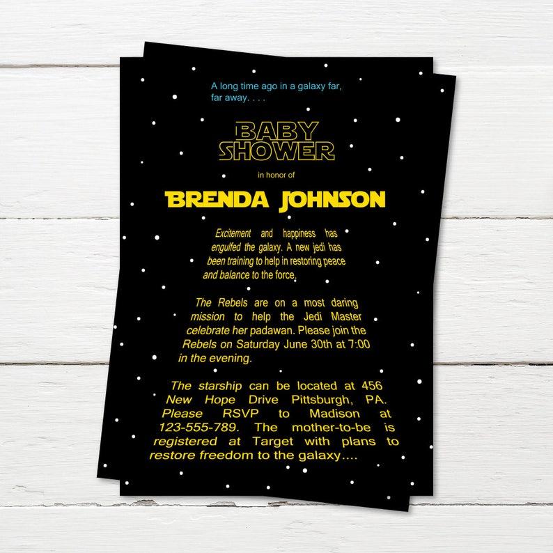 Star Wars Invitation Baby Shower Invite Its A