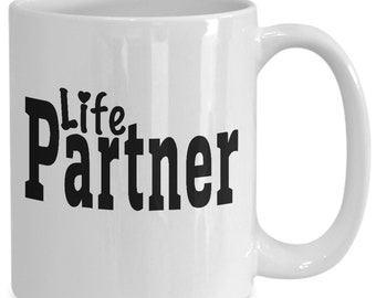 Partner Couples Mugs - Partner - 11oz or 15oz Ceramic Cups For Coffee And Tea