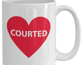 Courted Couples Mugs - Courted - 11oz or 15oz Ceramic Cups For Coffee And Tea