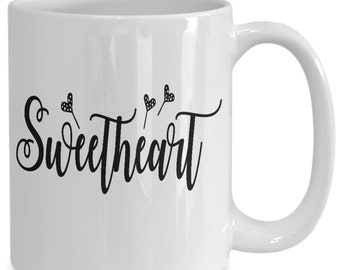 Sweetheart Couples Mugs - Sweetheart - 11oz or 15oz Ceramic Cups For Coffee And Tea