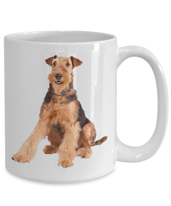 COFFEE WITH AIREDALE TERRIER COFFEE MUG AIREDALE TERRIER DOG COFFEE MUG