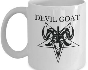 Devil Goat Mug- Ceramic Mug For Coffee and Tea, 11oz and 15oz, Made in The USA