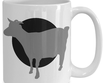 Goat Mug - Animal Yoga Lover Gift - 11oz and 15oz Ceramic Cup for Coffee Tea Drinks