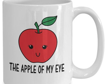 The Apple of my Eye Couples Mugs - The Apple of my Eye - 11oz or 15oz Ceramic Cups For Coffee And Tea