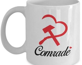 Valentines Comrade Couples Mugs - Comrade - 11oz or 15oz Ceramic Cups For Coffee And Tea