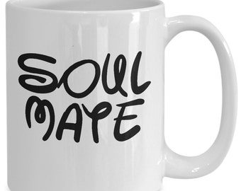 Soulmate Couples Mugs - Soulmate - 11oz or 15oz Ceramic Cups For Coffee And Tea