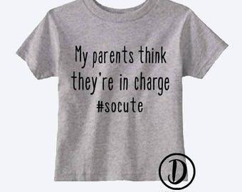 4978ed809 My parents are cute t-shirt | kids t-shirt | toddler t-shirt | funny kids  shirt | funny toddler shirt | toddler shirt | cute toddler shirt