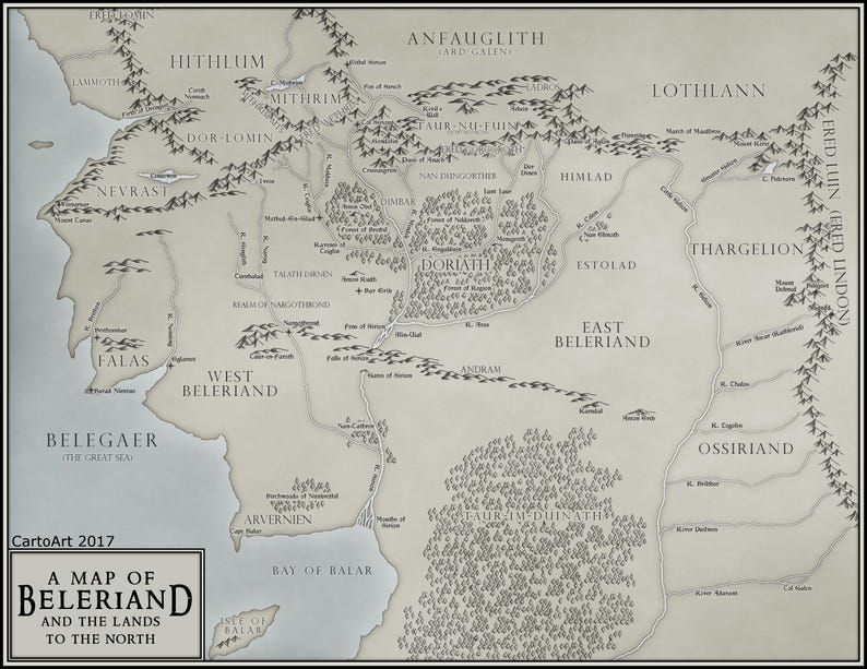 Beleriand Tolkien Map - Digital Download on his dark materials map, doctor who map, minecraft middle earth map, thors map, fellowship of the ring map, watership down map, angband map, supernatural map, j. r. r. tolkien, marvel map, legend of zelda map, the hobbit, lord of the rings map, frodo baggins, james bond map, to kill a mockingbird map, detailed middle earth map, jak and daxter map, firefly map, the lord of the rings, tolkein map, batman map, legend of dragoon map, the hobbit map,