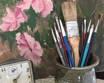 VINTAGE BRUSHES, Brush Lot, Old Paintbrushes, Vintage Paint Brushes, Brush Collection, Painting, Art, Studio Decor, Brushes, Mixed Media