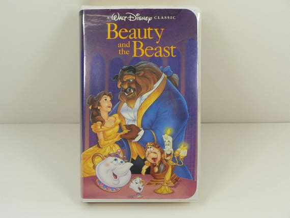 Walt Disney Beauty And The Beast Classic Black Diamond Vhs Etsy