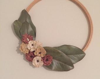 Simple Magnolia Leaf Wreath