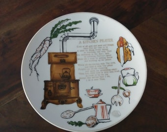 Kitchen Wall Plate Etsy