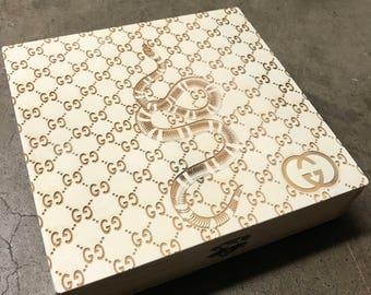 5850cc19055 Laser Engraved Gucci Stash   Jewelry Box