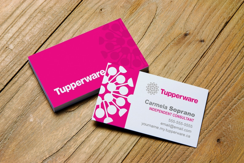 Printable Business Card Personalized For Tupperware