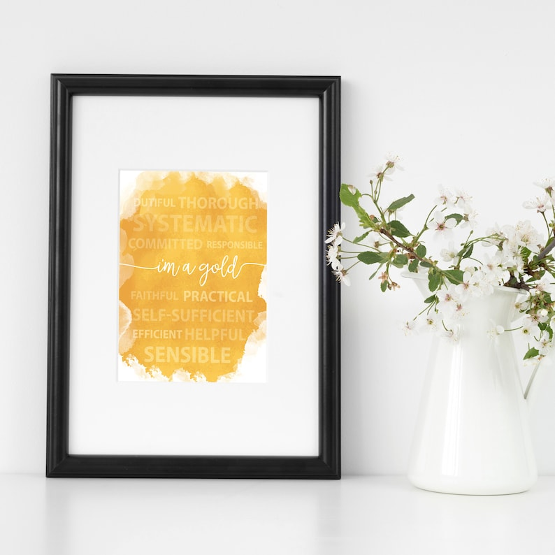 photograph about Printable True Colors Test identify Im a Gold Printable Poster \u003e Real Hues Persona \u003e Household Business Decor \u003e Electronic Downloadable Entrepreneur Artwork \u003e 8.5\