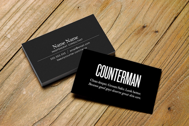COUNTERMAN Business Card > Beautycounter > Printable > Personalized for  Independent Consultants