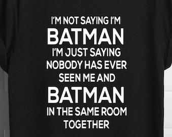 9c7f52808 Batman Shirt | Batman Dad | Batman Adult | Batman Husband | Batman Shirts  Men | Dad Superhero | Marvel | Funny Batman | Superhero Shirts