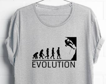 Climbing Shirt   Climbing Shirt Men   Evolution Climbing Shirt   Climbing Tee   Gift for Climbers   Funny Climbing   Rock Climbing Shirt