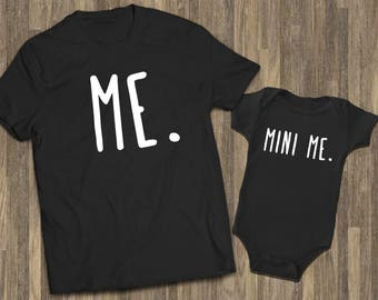 57cef9a81 Me Mini Me Matching Black | Matching Dad Boy | New Baby Matching | Matching  Father Baby | Funny Dad Baby | Dad Baby Shirts | Mom Baby Outfit