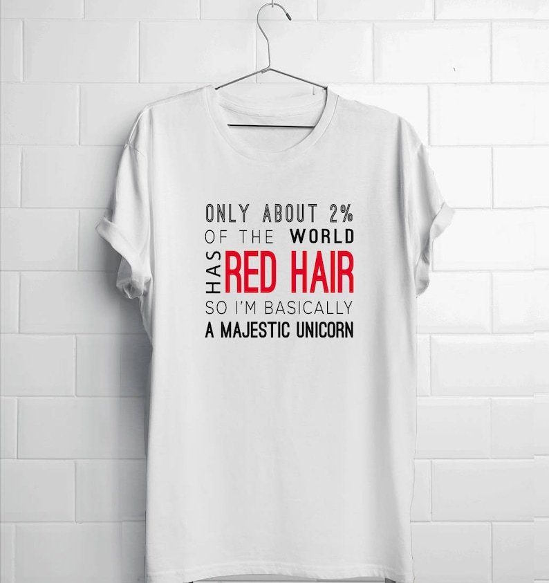 c7aa4032 Ginger shirts redhead gifts red hair shirts ginger | Etsy