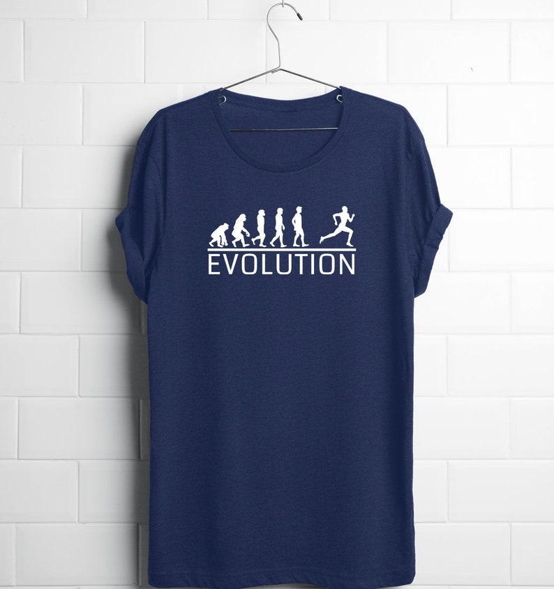 75ba4cb8 Evolution Runner Shirt Funny Running Shirts Marathon Shirt   Etsy