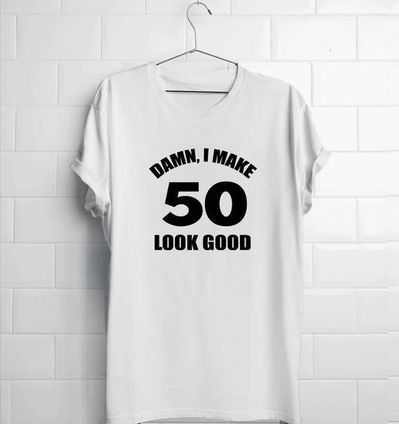 50th Birthday Shirt Dad Damn