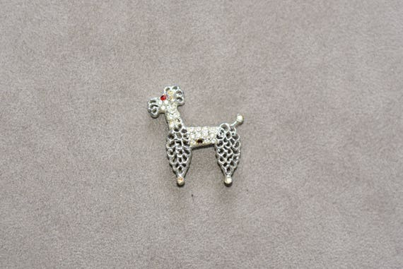 Poodle Brooch 50s 60s Poodle Pin