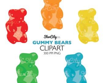 gummy bear clipart etsy rh etsy com gummy bear outline clipart gummy bear clip art free