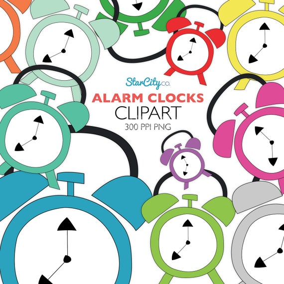 Alarm Clock Clipart Clock Clip Art Appointment Graphics Sticker Clipart Time Clip Art Cute Clipart Commercial Use Instant Download