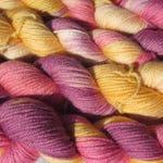 El Paso Sunset Hand-dyed Yarn, Mini Skein, Superwash Merino Wool, 4 Ply Fingering/Sock Weight