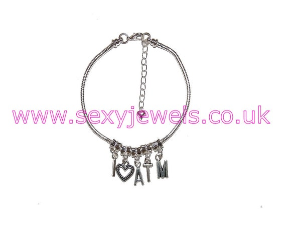 HOTWIFE Chain Anklet Ankle Bracelet Love Fetish Life style Gift Discreet  H W
