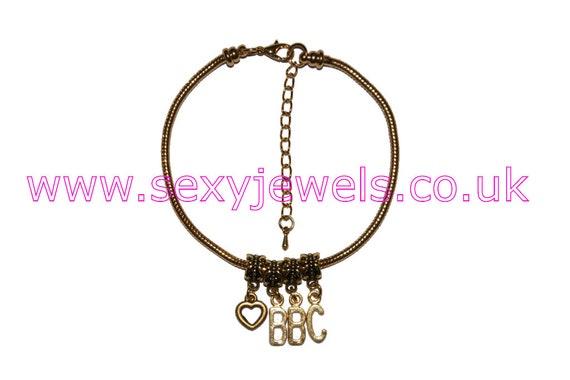Gold Euro Anklet Ankle Chain /'MFM/' Symbols Swinger Threesome Fetish Slut Hotwife