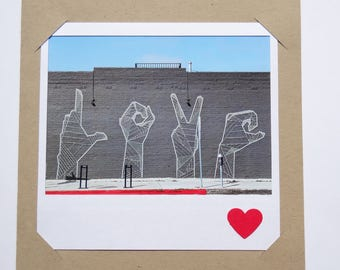 Love Card Polaroid-Inspired / Anniversary Card / Birthday Card / Valentine's Day Card / I Love You / Just Because / Any Occasion / Love /