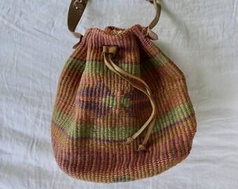 1970s Woven Sisal Bahama Bag