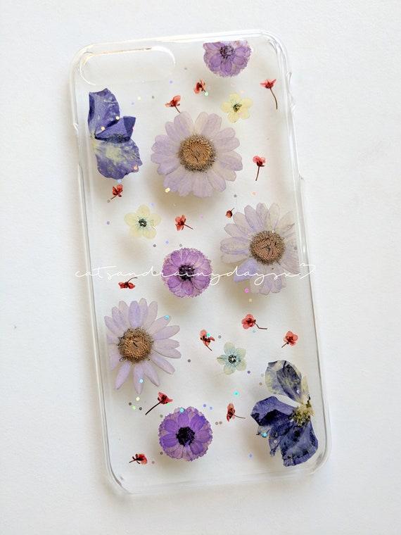 hot sale online dabb6 9af46 Custom order: Pressed flower resin iPhone phone cover phone case
