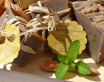 Peppermint Tea w/Honey Bath Bar Soap