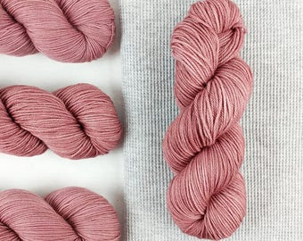 Diana - rose brown semisolid hand dyed yarn - fingering, sock weight - 115 grams - dyed to order