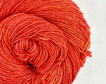 Arizona - orange red tonal hand dyed yarn - fingering, sock weight - 115 grams - dyed to order